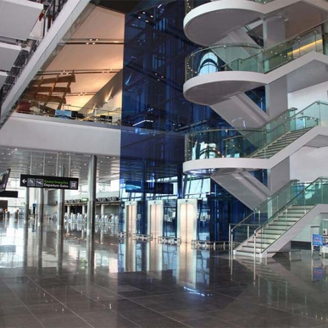 Dublin Airport - Stairs Balustrading-Flashings