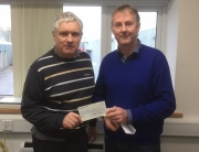 Presentation of a donation to Heart to Hand charity