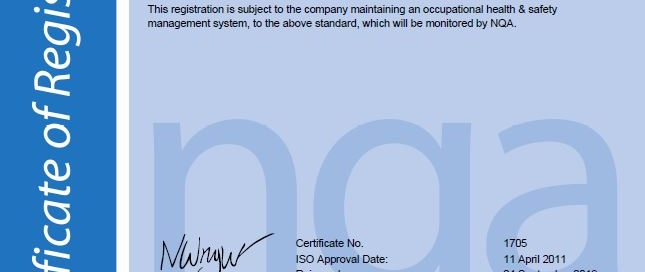 OMC Technologies certified to ISO 45001:2018