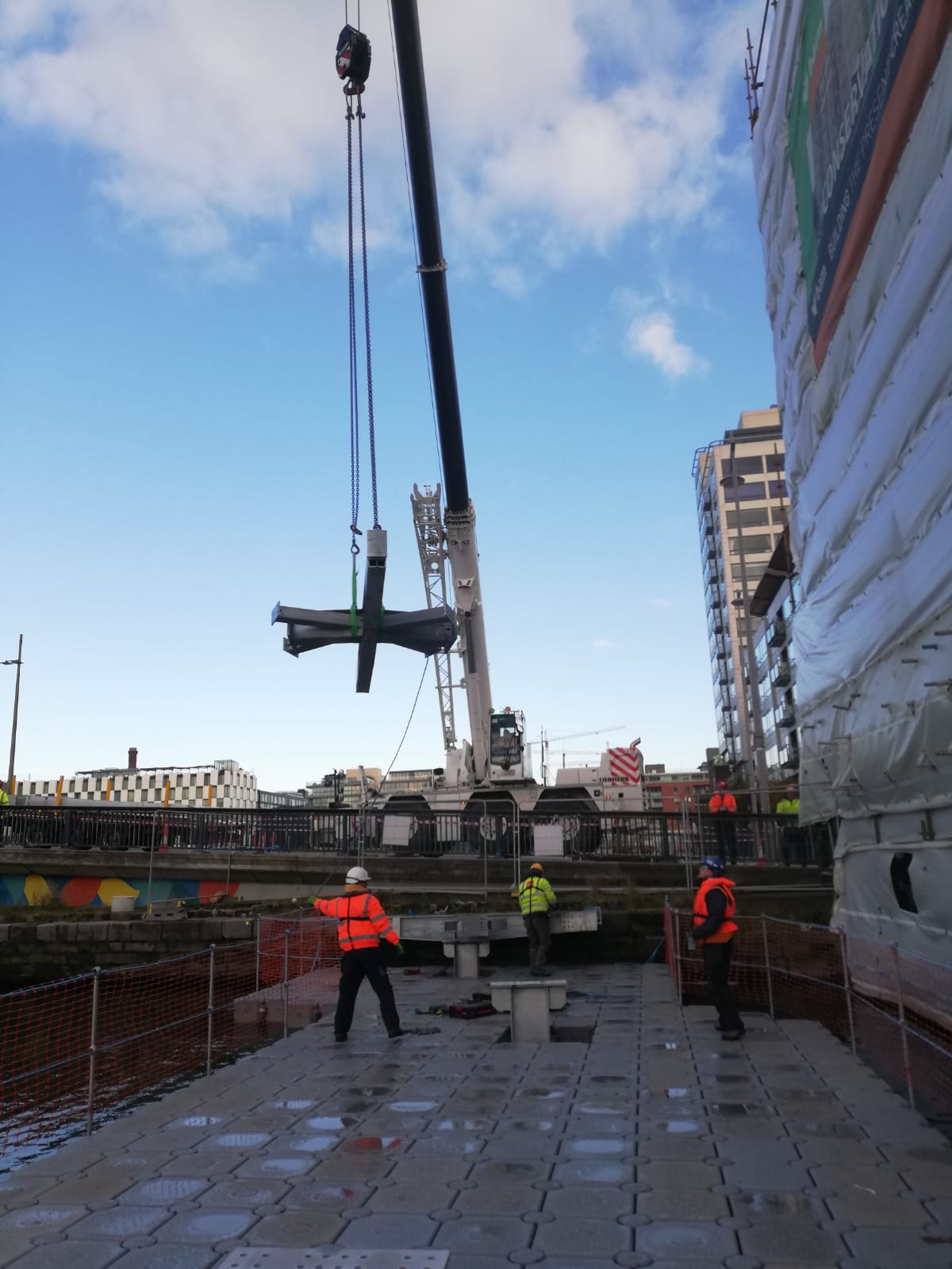Installation of bridge sections
